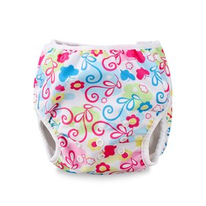 Hot Summer Swim Baby Boy Girl Brifs Diaper Nappy Pants Reusable Waterproof Adjustable Infant Fashion Cute New Printed Toddler