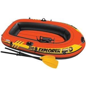 Intex Explorer Pro 200 Set Inflatable Boat with Oars and Pump 58357NP Surfboards