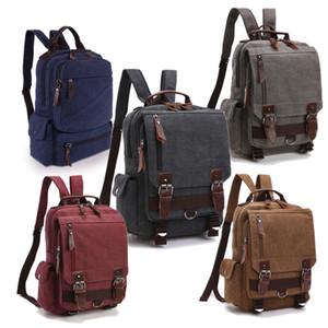 Spalla Moda-Men Women della tela zaino scuola vintage Bookbag Zaino Blet Dual Belt singolo Esterni Sport Bag pacchetto