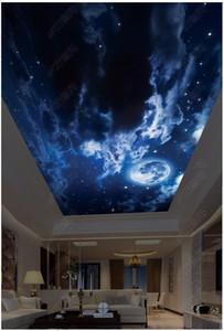 Personalizado Grande foto 3D papel de parede 3d teto murais HD céu estrelado das crianças quarto zenith teto mural papel de parede