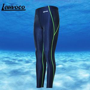 Профессиональные мужские плавки плавках шорты плюс размер 3XL Длинные брюки Quick Dry акульей Мужчины Купальники Гидрокостюм Купальник