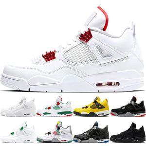 Atacado 4 4s Homens Basketball homens sapatos brancos Cimento Pure dinheiro do Prêmio Preto Militar Blue Thunder criados Oreo Fire Red esporte sneaker sapato