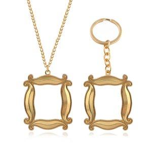 New TV Show Друзья Metal Keychains Gold Photo Frame Подвеска Key Chain Для женщин Для мужчин лучший друг Ювелирный подарок