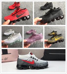 2018 yeni bebek çocuk erkek kız koşucu Günlük Ayakkabılar erkek kız es eğitmenler örme sneaker Hava yastığı çocuk ayakkabıları
