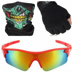 Cycling Sunglasses Fashion Bicycle Goggles Sutro Cycling Glasses Outdoor Sport Sun Glasses riding mask protective gloves 3 in one