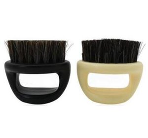 horse hair wheel brushes Barber Salon Men FacialBadger Beard Cleaning Brush with Handle for Men