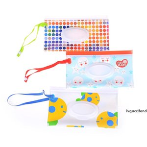 1PCS Easy-carry Clutch And Clamshell Cosmetic Pouch Clean Wipes Tissue Boxes Carrying Case Tissue Bag Snap-strap Wipes Container