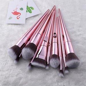 فرشاة مقبض الرطب والجمال فرش فرشاة البرية PCS مؤسسة مجموعة اليد أدوات ماكياج الإبهام سلسلة متعددة الوظائف 10 مجموعة mixaa