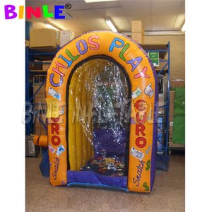 New design 4ftx6ftx9ft inflatable Cash Cube Money Grab Machine Booth with 2 Air Blowers for Advertising Event Promotion