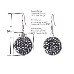 Ms betti new arrival round drusy earring for women Crystals from SWAROVSKI cheap price wholesale