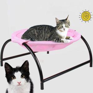 Gato bonito Nest prova de umidade cama quente inverno Cat House Cushion Pet filhote de cachorro camas para cão pequeno de Metal Shelf Sofá Sleeping Bag Bed