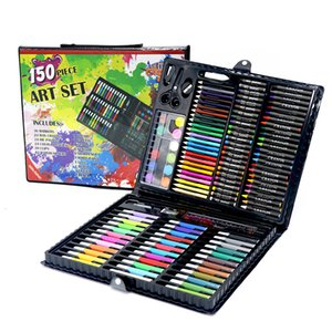 Kids Art Set Children Drawing Set Water Color Pen Crayon Oil Pastel Painting Drawing Tool Art Supplies Stationery Set 150 Pcs T8190617