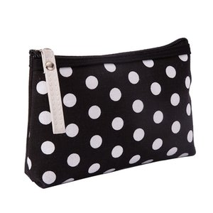 10pcs 2021 Dots Printed canvas Multifunctional makeup bag Zipper Toilertry Organize Storage Pouch