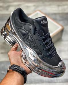 Chegada Nova 2018 de alta qualidade Raf Simons X Sneakers Consortium Ozweego 2 corrida ao ar livre Sapatos Homens Woemn Red respirável sapatos Atlético Sport