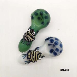 Tubos de vidrio populares fumadores Quemador de aceite a mano las patas de rana hh lindo del tubo de agua