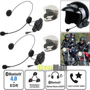 2x Motorcycle Helmet Headset Wireless Bluetooth Headphone Speaker Hands-Free