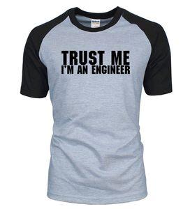 Adult T Shirts Trust Me, I'm An Engineer Letters Print Raglan Men T Shirts 2020 Summer sportswear Cotton TShirt Casual Loose Top