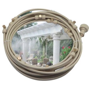 Beige 6M-18M Outdor Garden water fog mist cooling system with prass nozles