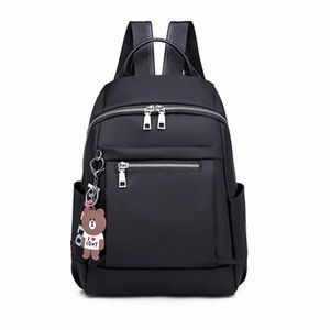 Fashion Designer Nylon Women Backpack Large Casual Zipper School Bag For Teenage Girls Female Travel Bag Light Bagpack Rucksack J190528