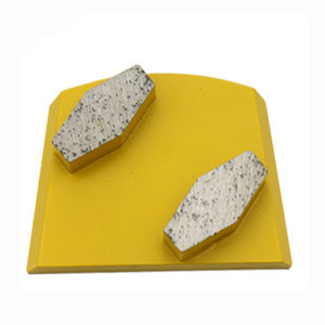 KD-B50 Lavina Diamond Grinding Shoes Diamond Grinding Block with Two Drum Segments for Concrete and Terrazzo Floor 9 Pieces One Set