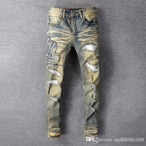 2020 hommes de jeans en denim design de luxe Nouveau style décontracté hommes jeanss hommes maigre Sweatpant maigre jeansBlue mens pantalons de survêtement de créateurs