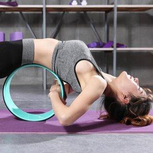NEW Yoga Circles Pilates Professional Waist Shape Bodybuilding Gym Workout Back Training Wheel For Fitness Bearing 200kg,33*12CM
