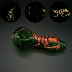 Glass oil burner pipe Gecko printing 3D glass hand pipe hot sale Colorful herb pipe for smoking water bong wholesale