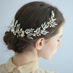Gioielli strass Fiore Birdal fascia Wedding Accessori per capelli diadema della fascia dei capelli delle donne Wedding Decoration copricapo