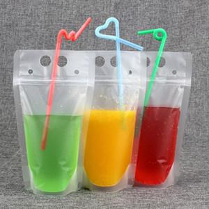 يمكن التخلص منها صلاة الحاويات تعيين شفاف المشروبات شرب عصير الحقائب حقيبة مع سحاب الباردة المشروبات الساخنة كأس مع سترو