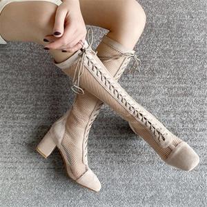 Karin Nouveautés Fashion Square Talons Chaussures pour femmes été Gladiator Cuissardes femme