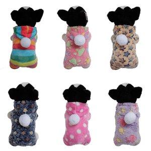Зимняя Одежда для собак Pet Dog Puppy Теплого Dot Star Печать вниз Костюм Soft пальто Hoodie ветровка куртки Одежда Pet Products