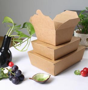 caja de almuerzo de papel kraft desechables, cajas de comida rápida, caja de embalaje de alimentos, caja de embalaje de comida para llevar, kraft rectángulos de papel almuerzo