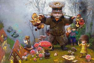 Современное искусство Виктор Низовцев Отпечатки на холсте картина маслом детская комната елочные украшения настенная картина лучший рождественский подарок vk12