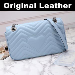 2020 새로운 고품질 여성 브랜드 패션 Marmont에 럭셔리 디자이너 가방 정품 가죽 크로스 바디 핸드백 지갑 가방 어깨 가방 3 크기