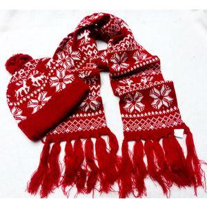 Elk Knit Scarf Hat Define Beanie Cap Knit Mulher do Natal dos desenhos animados Menina bonito Crochet Lenços Outdoor Quente Ski Hat TTA1847
