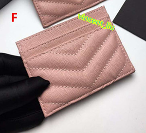 nuovo stile realizzato in vera pelle titolare del marchio scheda progettista caviale per il sacchetto della carta di credito donne unisex degli uomini con la scatola di ottima qualità