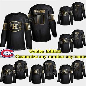 몬트리올 Canadiens Golden Edition 15 Jesperi Kotkaniemi 6 Shea Weber 31 캐리 가격 13 Max Domi 원하는 이름으로 하키 유니폼을 주문하세요