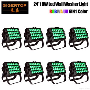 TIPTOP CE Approval 24x18W 6in1 RGBWA+UV Color Mixing Led Wall Washer Light Outdoor Usage