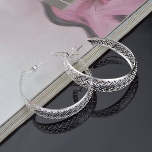 Wholesale-fashion 925 silver sterling earrings big circle earrings 6 styles designer luxury earring for options silver plated model no.NE926