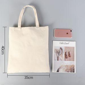 Fai da te Pubblicità sublimazione della tela di canapa sacchetto ecologico vuoto dello shopping bag a mano sacchetto di cotone di trasferimento di calore delle donne di stampa A07 Formato su misura