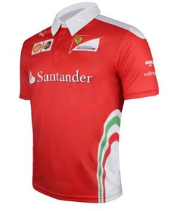 2020 새로운 F1 페라리 팀의 팬은 페라리 키미 라이코넨 남성의 반소매 T 셔츠 경주 정장 폴로 셔츠 빠른 건조 통기성 의류