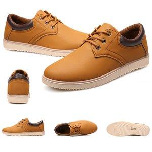 2020 بيع كامل العمل للماء وعدم الانزلاق كبير فروة الرأس أحذية الرجال الأحذية الجلدية السوداء البحرية الأزرق المصممين البني أحذية رياضية حجم 39-44