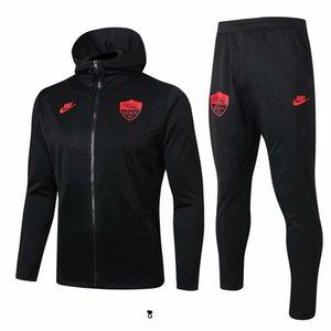 19 20 Roman kapşonlu ceket gömlek Strootman kış ceket kitleri eşofman futbol forması Dzeko rüzgarlık N'Zonzi futbol Windproof A698 mens
