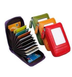 sacchetto della carta di credito Portafoglio in pelle RFID Card Holder cerniera battere moneta NN borsa per le donne favore 11 * 8 * 2cm