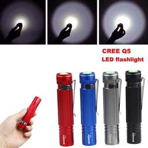 SKYWOLFEYE 4 couleurs 7W Mini LED Q5 lampe torche étanche Lampe électrique 14500 / AA LEF_70T