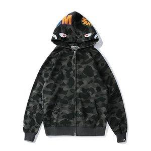 Men's jacket cotton Pullover Hoodies AAPE APE Letter Print Europe America SIZE Mark Hooded Long-Sleeved Women's Hoodies