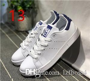 2018 Nouvelle VENTE Originaux Stan Smith Chaussures Femmes Hommes Casual En Cuir Baskets Superstars Planche À Roulettes Blanc Bleu Stan Smith chaussures ZEOUT4