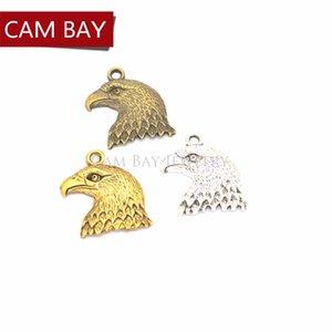 60 pcs 4 cores de Prata Banhado A Ouro Tibetano Pingente Antigo Águia Encantos Fazendo Jóias Artesanais DIY Artesanato 21 * 20mm D512