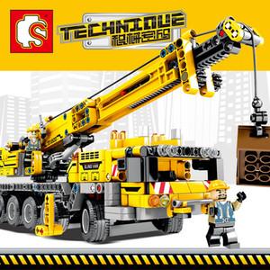 Brinquedos modelo do veículo dos blocos do guindaste do caminhão 701800