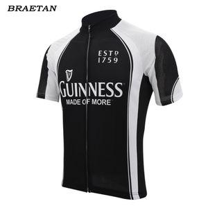 ciclismo preto jersey verão camisa de manga curta cerveja preta desgaste bicicleta de estrada de ciclismo roupas maillot braetan